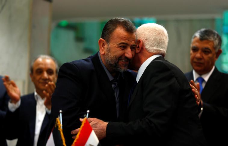 הסכם הפיוס בין פתח וחמאס. צילום: רויטרס