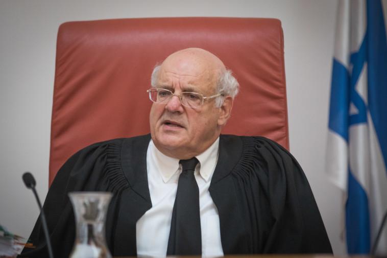 """""""הפוך לאדם פרטי והבעיה תעלם"""". השופט חנן מלצר, צילום: מרים אלסטר, פלאש 90"""