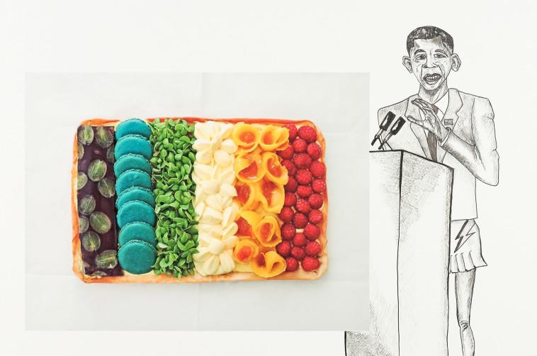 אוכל וסראונד חושי. חלל התערוכות ברביעיית פלורנטין, צילום: יח״צ