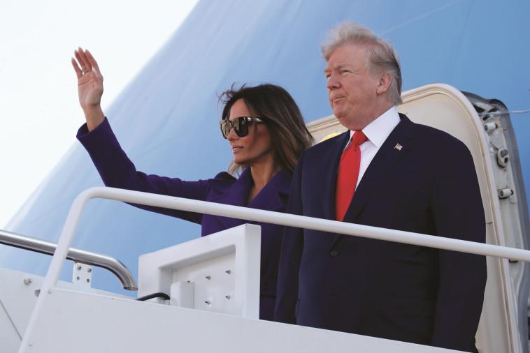 הנשיא עם אשתו מלניה. צילום: רויטרס