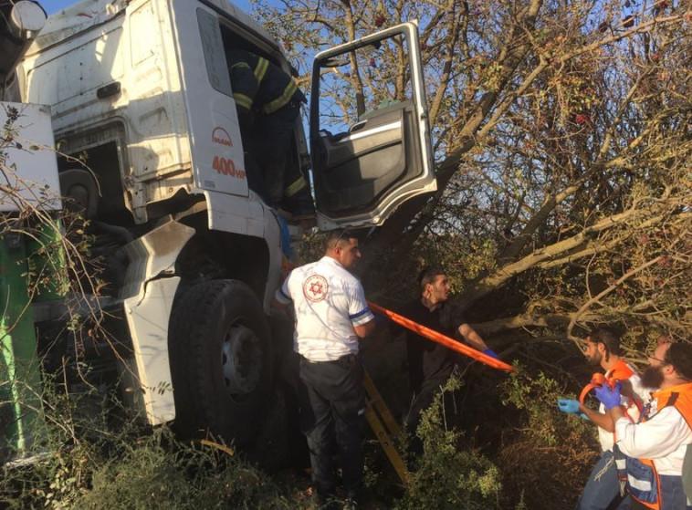 """התאונה בגליל. צילום: מד""""א"""