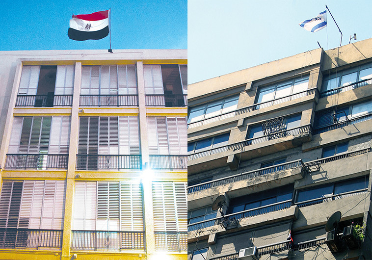 שגרירויות מצרים וישראל. צילום: רויטרס