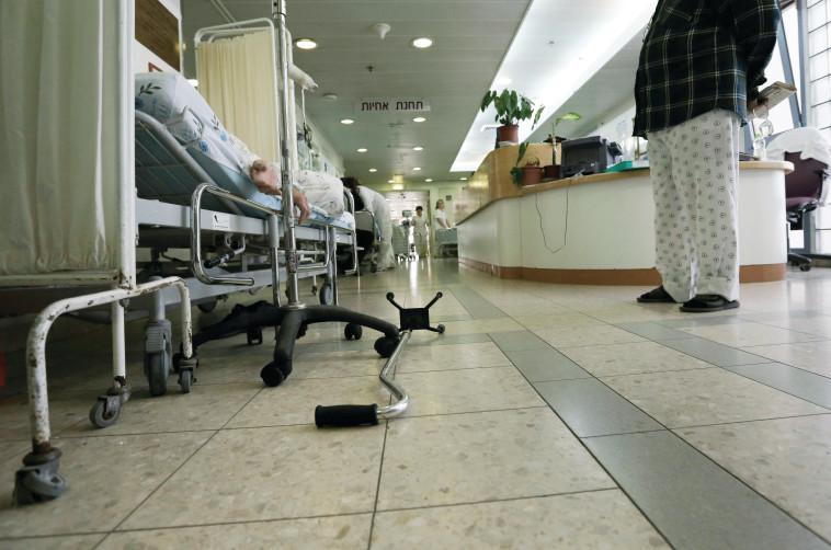 עומס בבית חולים ברזילי. צילום: פלאש 90