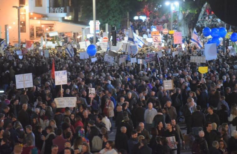 ההפגנה בשדרות רוטשילד. צילום: אבשלום ששוני