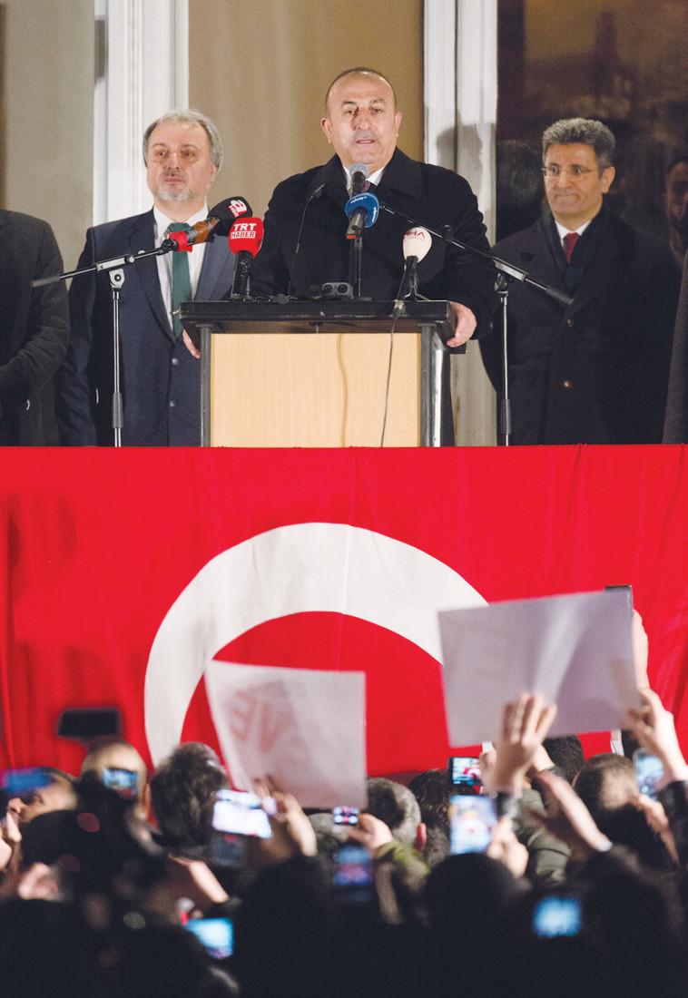 שר החוץ הטורקי צ'בושאולו. צילום: איי.אף.פי