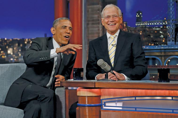 דיוויד לטרמן מראיין את ברק אובמה. רויטרס
