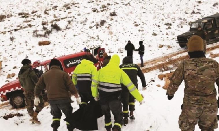 פינוי גופות הפליטים שקפאו בלבנון