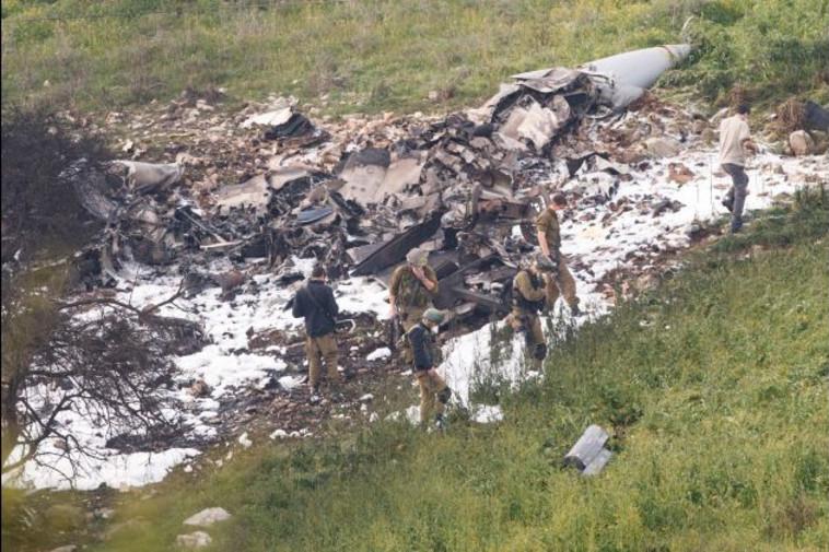 שרידי המטוס שהופל. צילום: מאיר וקנין
