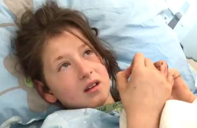 חנה גרשמן, בת ה-8 שהותקפה על ידי הכלבים. צילום: טוויטר