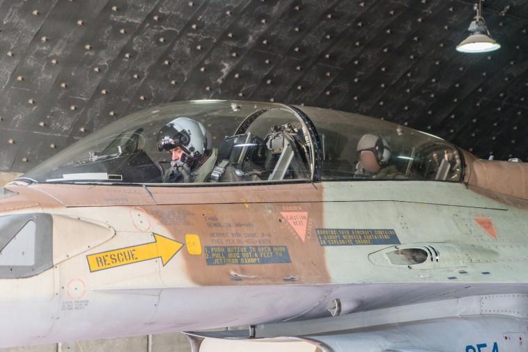 """מטוס F16. צילום: דו""""צ"""