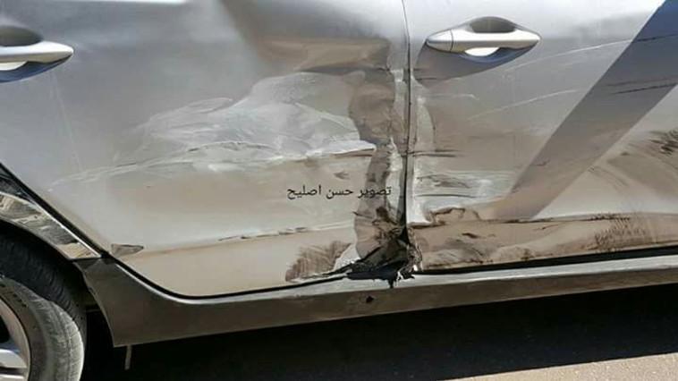 רכבו של חמדאללה אחרי ניסיון ההתנקשות. צילום: התקשורת הערבית