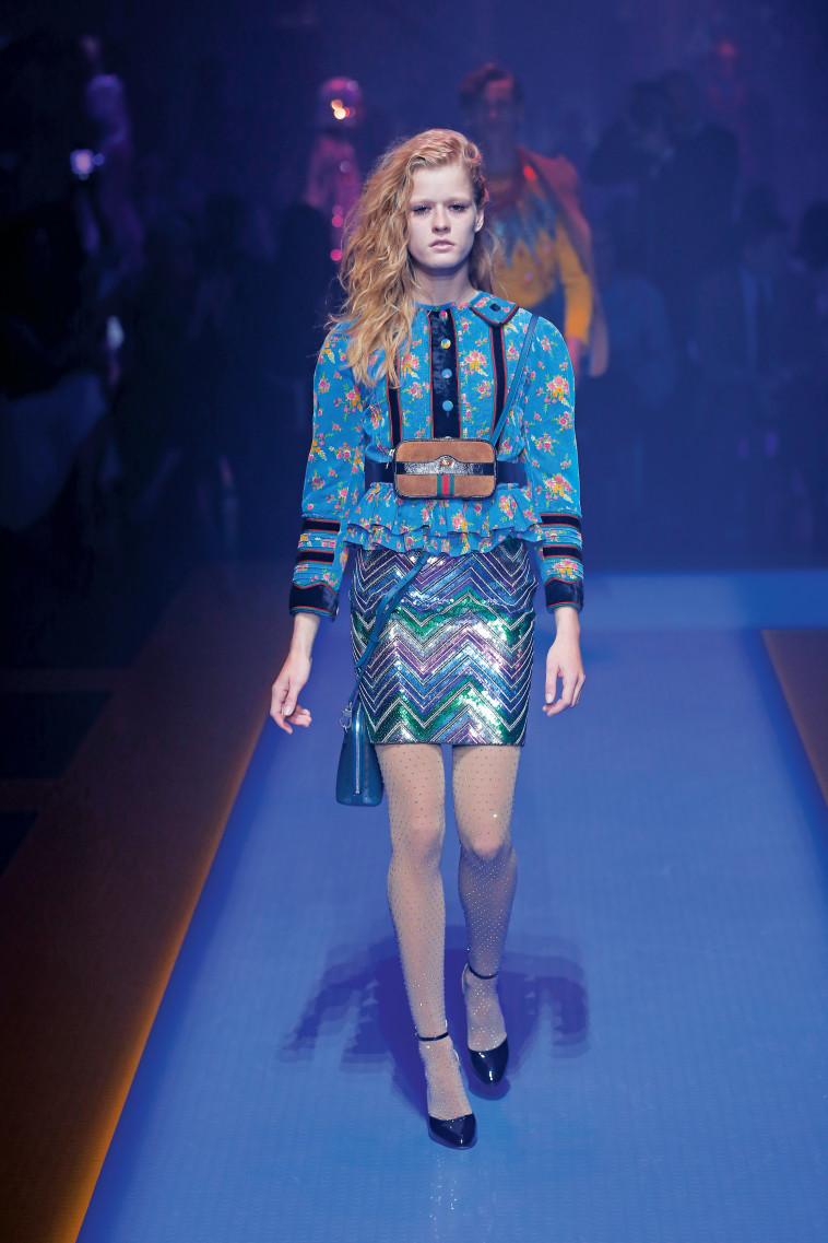 מתוך מסלול התצוגה של בית האופנה גוצ'י