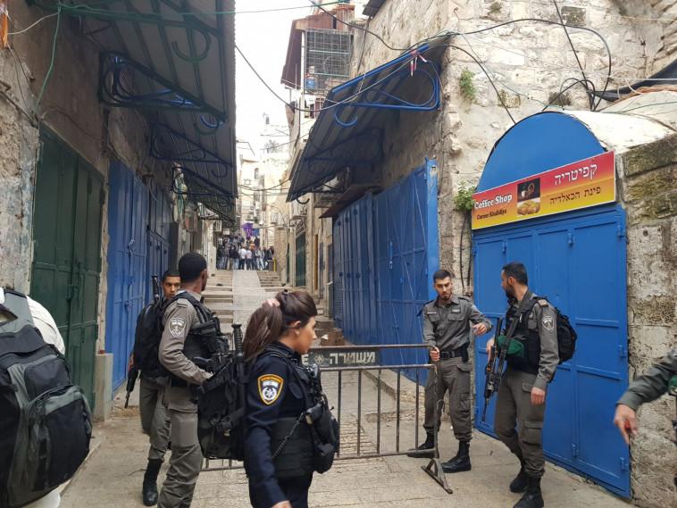 זירת פיגוע הדקירה בירושלים, צילום: סוכנות תצפית
