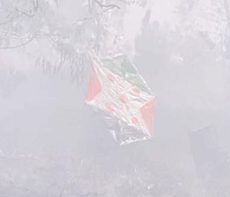 עפיפון תבערה, צילום: כבאות נגב