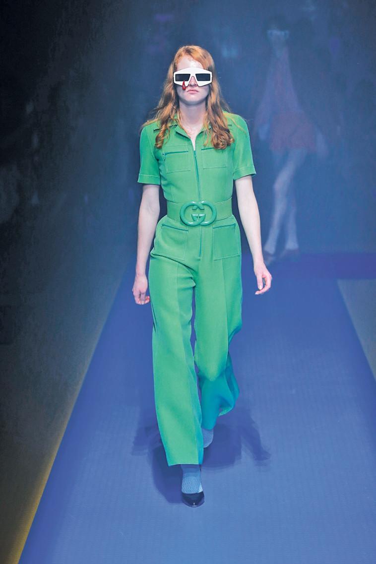 מתוך תצוגת האופנה של גוצ'י