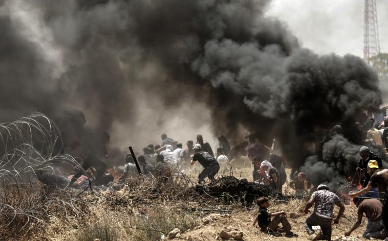 עימותים בגבול רצועת עזה. צילום: AFP