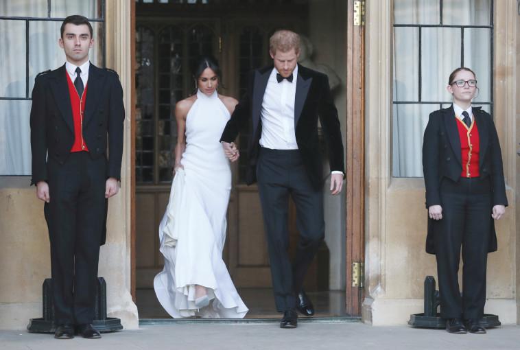 הארי ומייגן לאחר החתונה. צילום: רויטרס