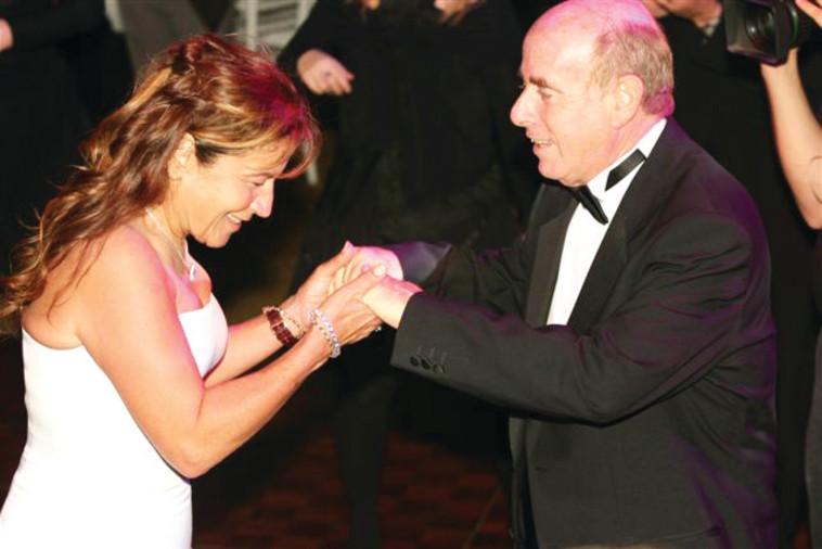 יפית גרינברג עם בעלה בנימין ארד. צילום פרטי