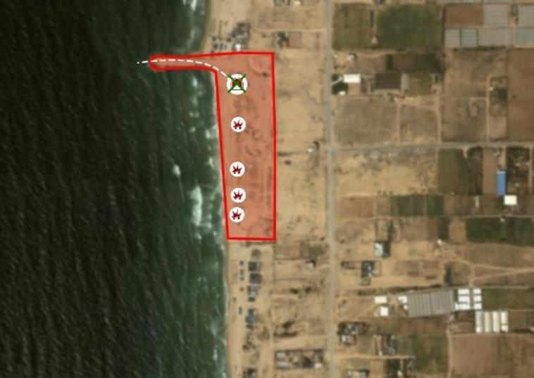 """מסלול מנהרת הטרור הימית. צילום: דובר  צה""""ל"""