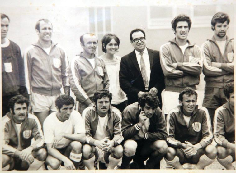 נבחרת ישראל מקסיקו 70. צילום רפרודוקציה. צלם : נאור רהב