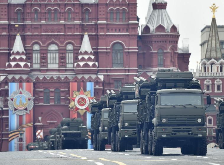 מערכת ההגנה האווירית פנציר S1 במוסקבה. צילום: AFP