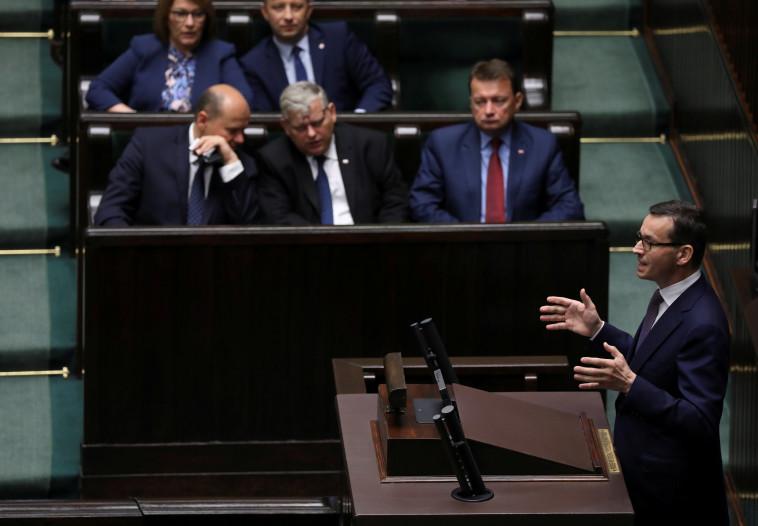 ראש ממשלת פולין מתאוש מורביצקי. צילום: רויטרס