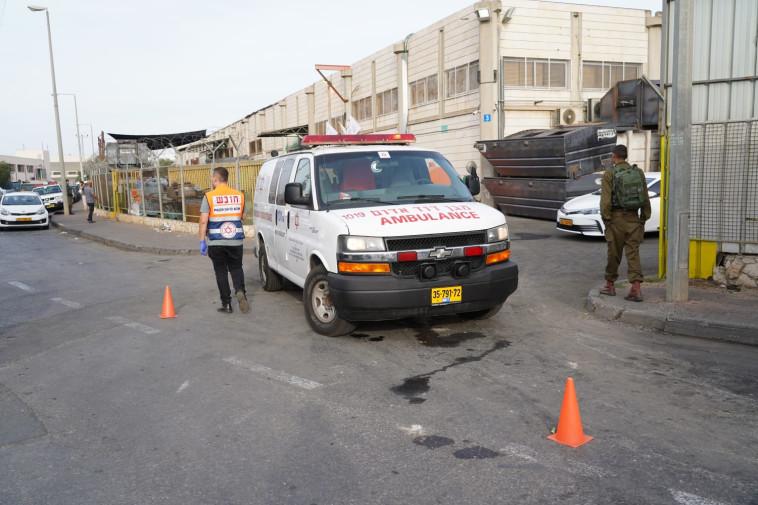 זירת הפיגוע בברקן, צילום: הלל מאיר, TPS