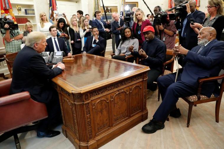 דונלד טראמפ וקניה ווסט. צילום: רויטרס