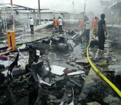 זירת הפיצוץ בתאילנד