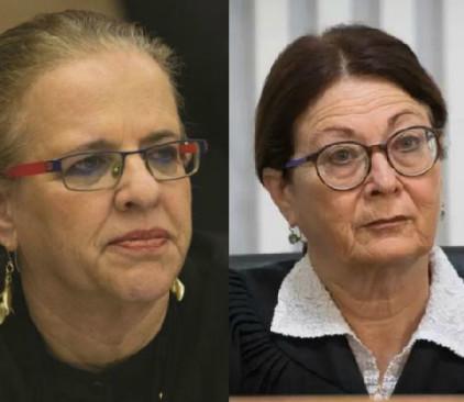 נשיאת העליון אסתר חיות והשופטת הילה גרסטל