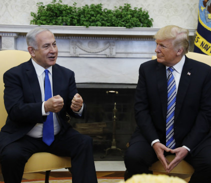 דונלד טראמפ ובנימין נתניהו בבית הלבן
