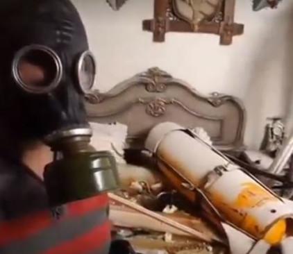 תיעוד מבית שנפגע במתקפה כימית בסוריה