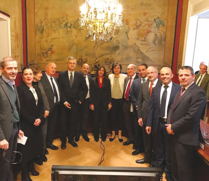 """אגודת הידידות בפרלמנט הספרדי עם הח""""כים חסון, מרגי, אללוף וסוויד"""