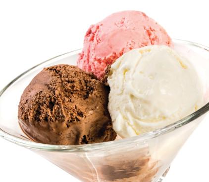 גלידה בצלחת גדולה