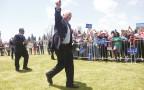 ברני סנדרס במהלך קמפיין הבחירות, מאי 2016