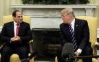 טראמפ בפגישתו עם א-סיסי