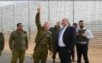 ליברמן בסיור בגדר הגבול עם ירדן