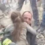 חילוץ בת 8 מההריסות באיטליה