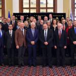 שר הביטחון אביגדור ליברמן עם שגרירי האיחוד האירופי