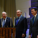 ראש המוסד יוסי כהן, ראש הממשלה בנימין נתניהו ונשיא המדינה ראובן ריבלין