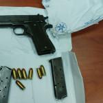 האקדחים שנתפסו במבצע המעצרים