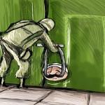 קריקטורה בתקשורת הערבית, סגירת הר הבית