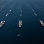 נושאות המטוסים האמריקאיות בתרגיל בחצי האי הקוריאני