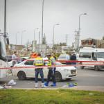 זירת הפיגוע באריאל