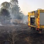 שריפת חורש בדרום בעקבות טרור העפיפונים
