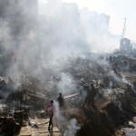כוחות ההצלה באתר השריפה בניירובי