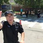 """שוטר מחוץ לשגרירות ארה""""ב בבייג"""
