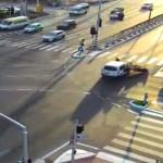 תיעוד תאונה בצומת סביון