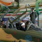חסן רוחאני במטוס הקרב החדש