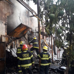 כוחות כיבוי אש במקום השריפה ביפו